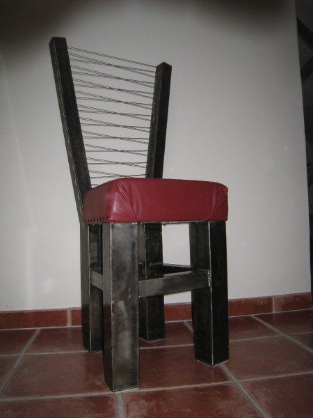 la chaise corset david sculpteur sur inox